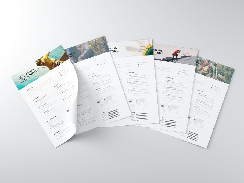 graphics free resume psd files