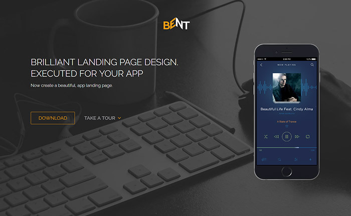 free bootstrap html5 landing page template