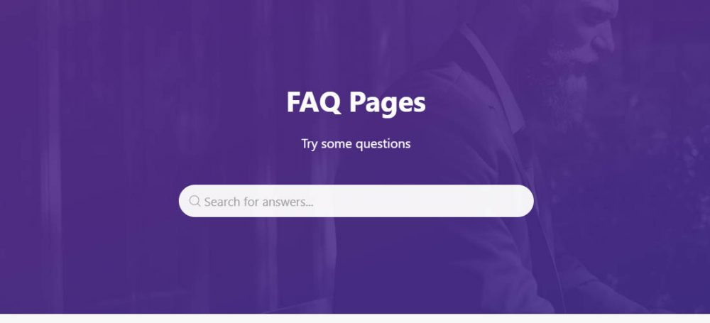 example faq pages