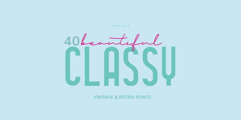 free vintage and retro fonts