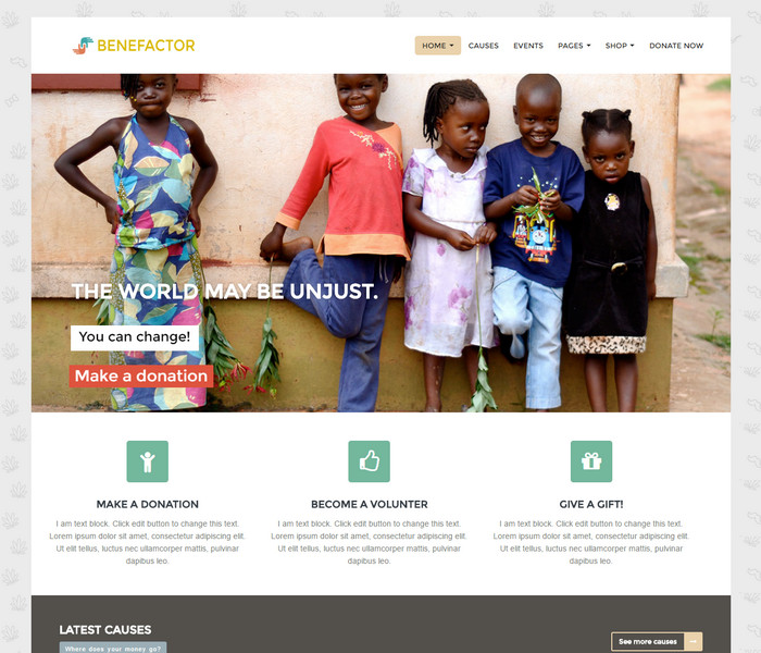 Benefactor Non Profit WordPress Theme