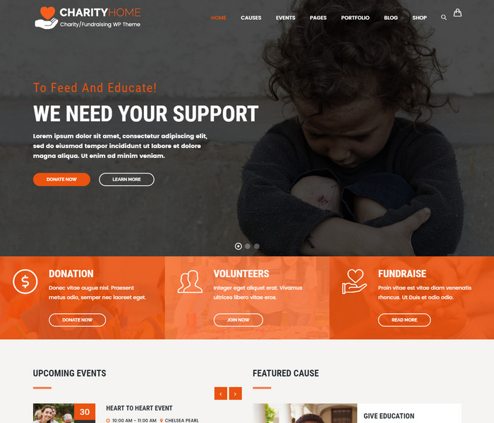 Charity Home Non Profit Theme