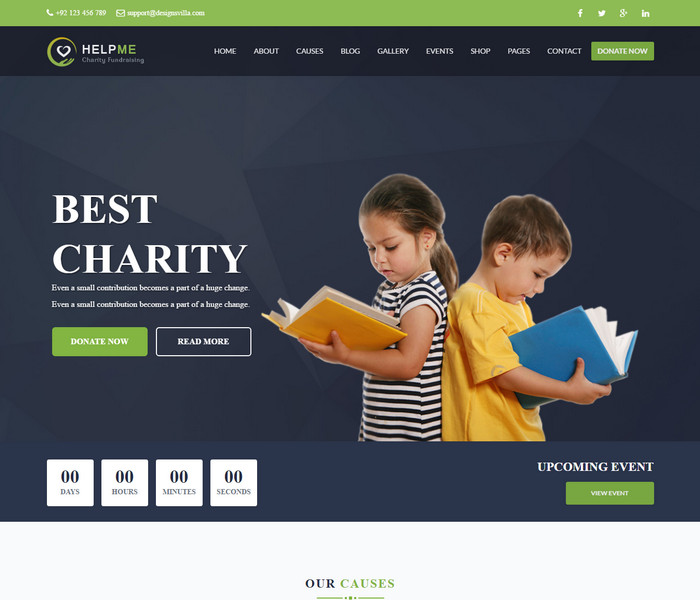 HelpMe Charity WordPress Theme