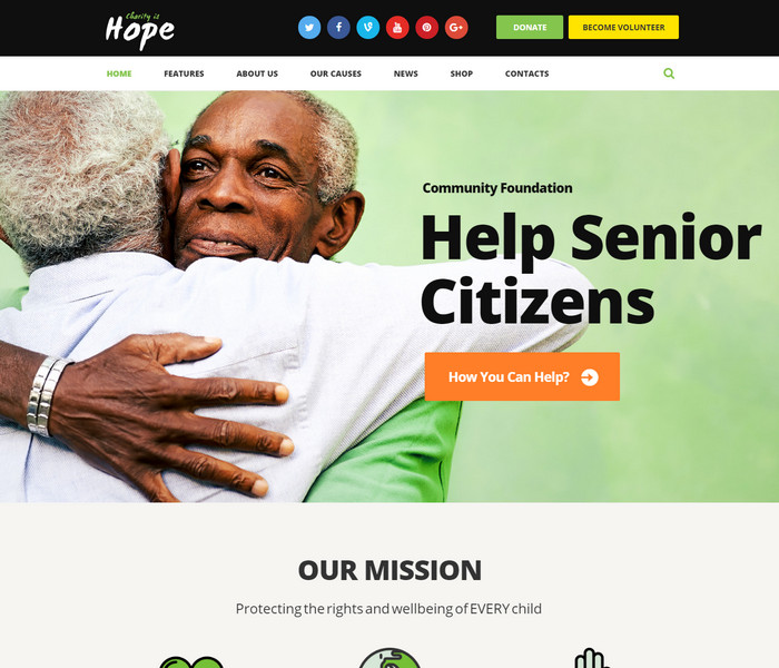 Hope Non Profit WordPress Theme