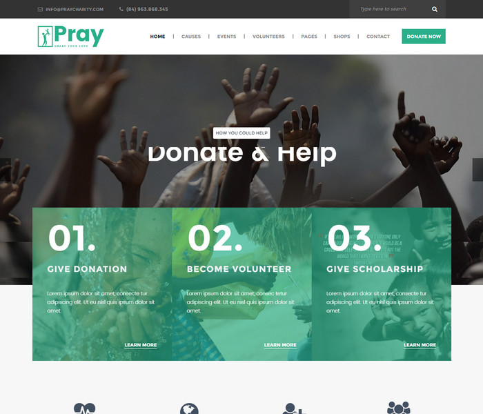 Pray Charity WordPress Theme