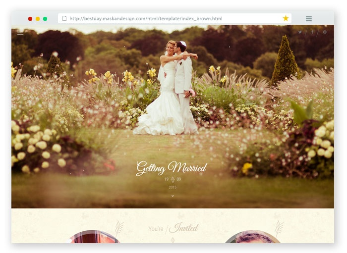 Best Day One Page Wedding Template