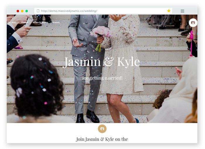 Jasmin Kyle Wedding website