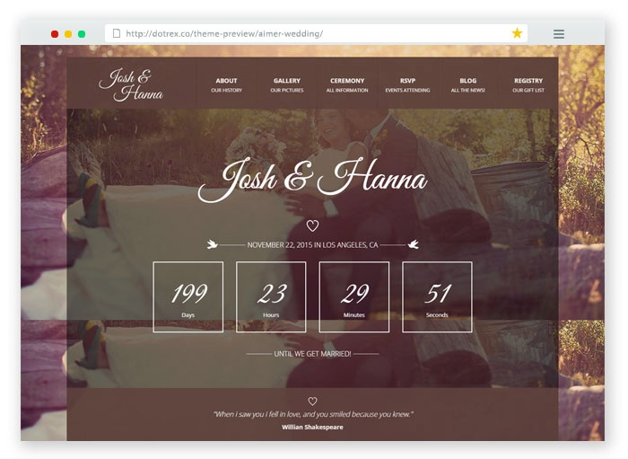 Josh Hanna Wedding Template