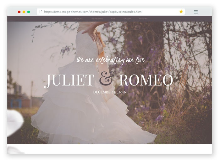 Juliet Wedding Template