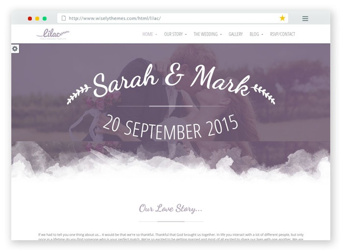 Lilac Wedding Template