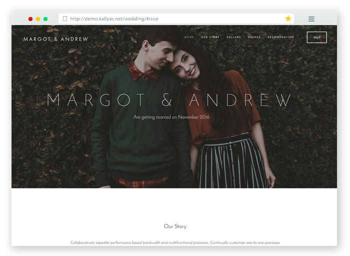 Margot and Andrew RSVP