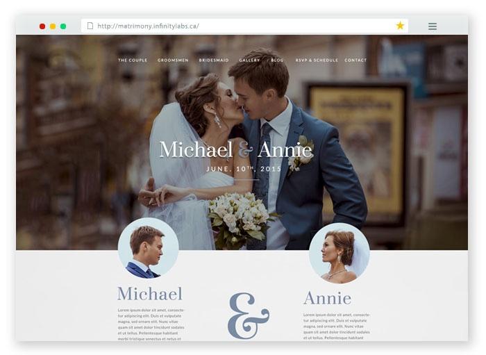 Matrimony HTML Template