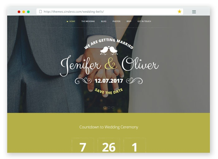 Wedding Bells Responsive Template