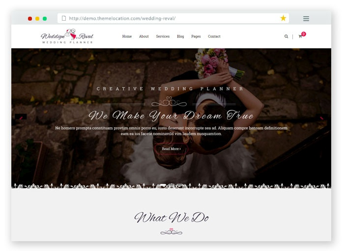 Wedding Reveal HTML Template