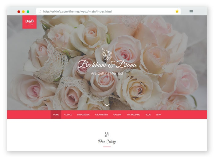 Wedz Wedding HTML Template