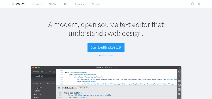 Brackets- A modern open source text editor