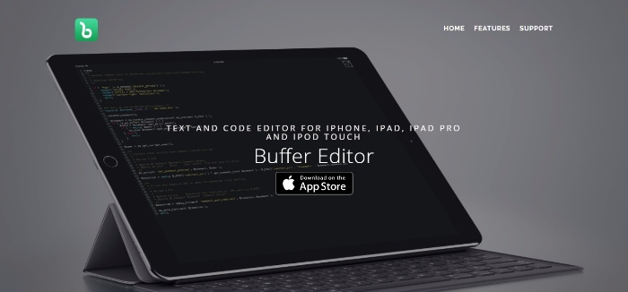 Buffer editor- A text and code editor for Iphone, Ipad and Ipad Pro