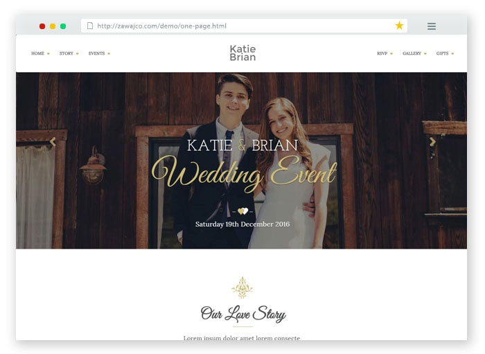 eWedding HTML Template