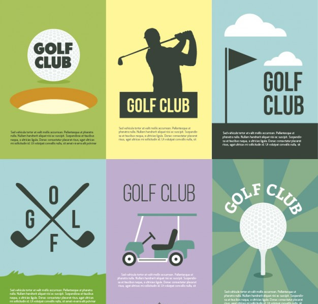 golf club vector posters