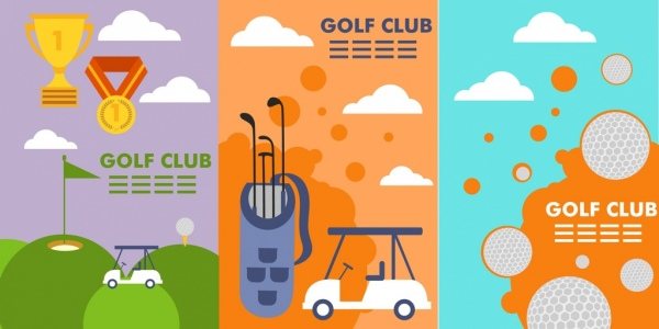 golf club brochure vector