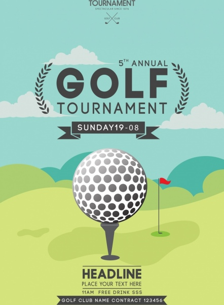 Golf tournament vector