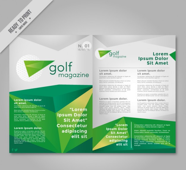 golf flyer vector template