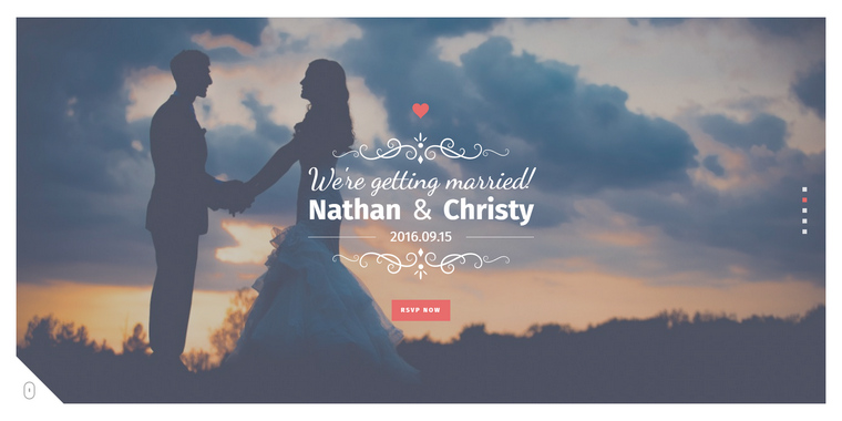 html5 wedding templates to create any wedding websites