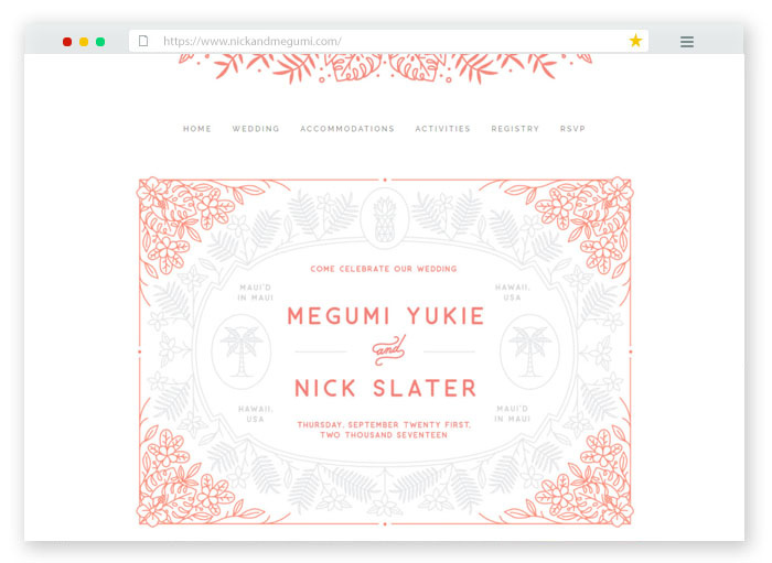 wedding website concept