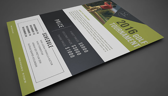 golf tournament flyer psd template