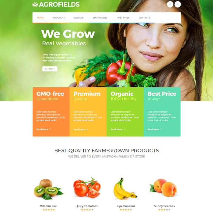 This is a food shop & grocery market WordPress theme