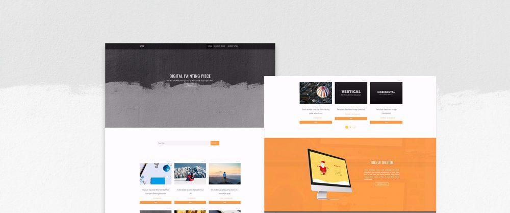 atoz - free simple WordPress blog theme for designers, developers