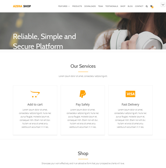 free responsive e-commerce theme