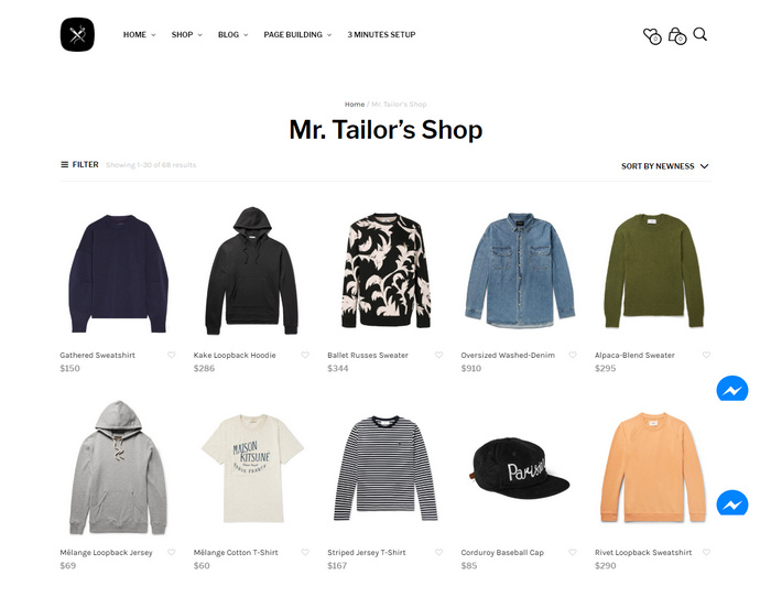 Mr tailor is a premium Woocommerce theme