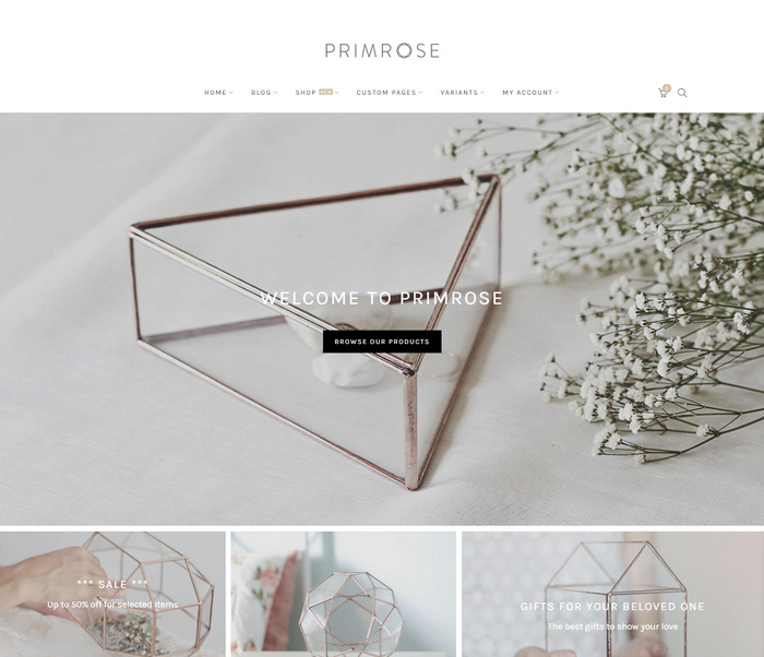 This is a responsive theme to creative Woocommerce websites