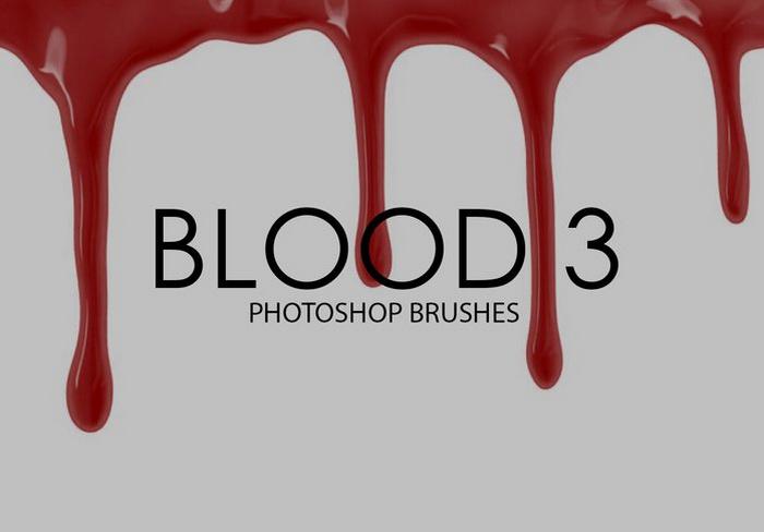 Free Blood Photoshop Brushes
