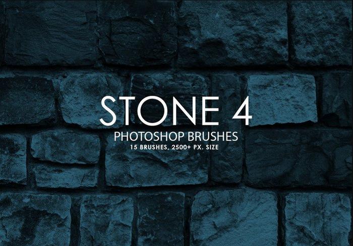 Free Stone Photoshop Brushes