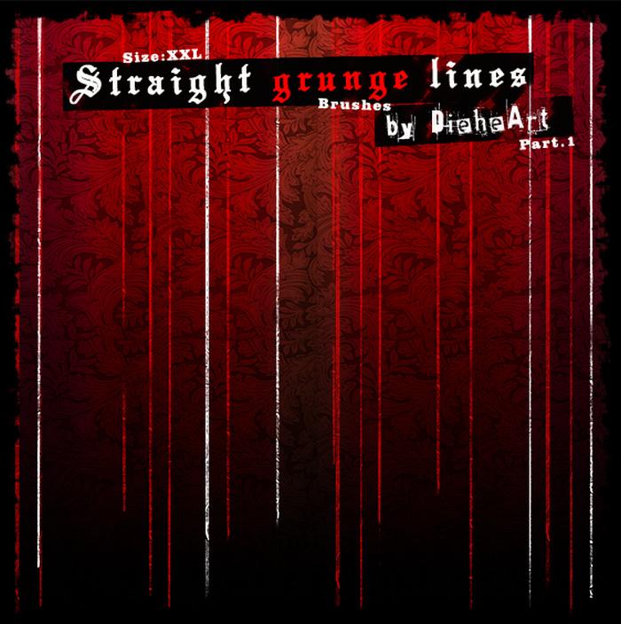 Free Straight Line Grunge Brush
