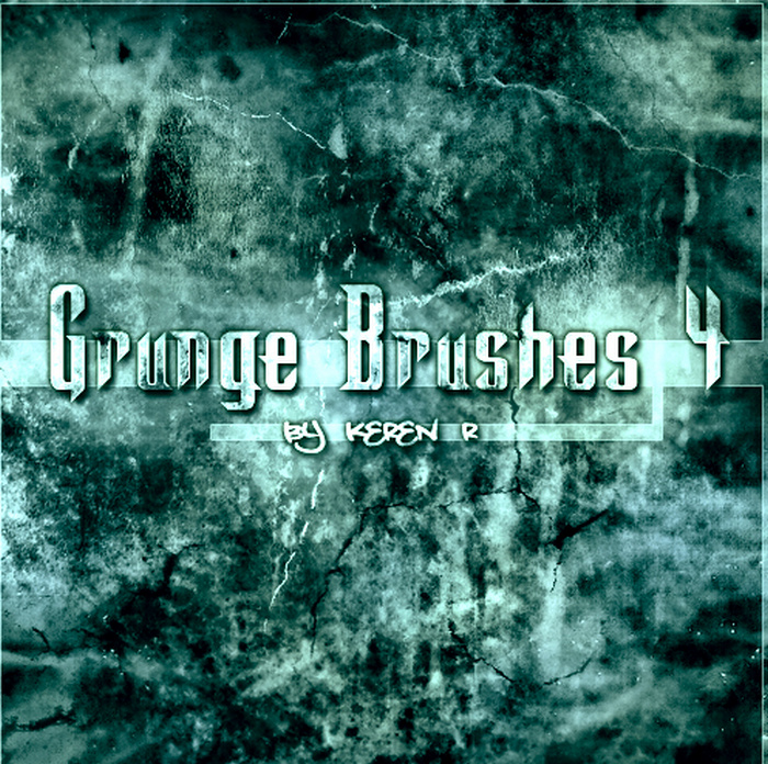 Green Colour Grunge Brush Free Download