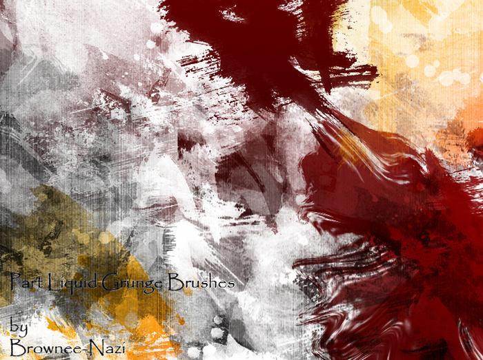 Liquid Grunge Brush For Photoshop
