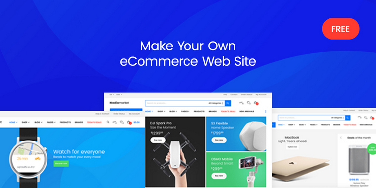 Free eCommerce PSD Templates for commercial websites