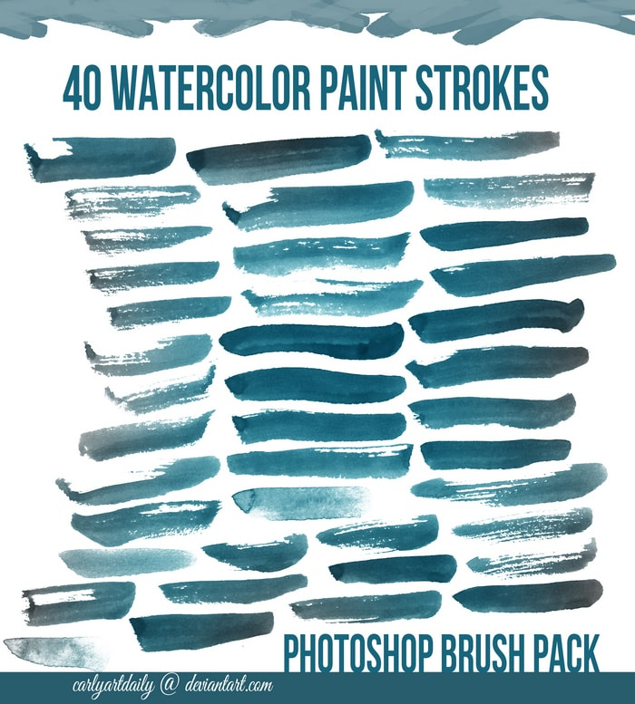40 Watercolor Brushes