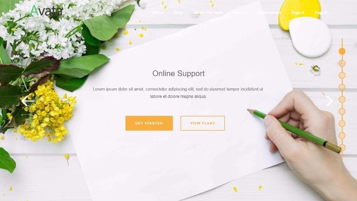 Avata -free WordPress theme based on Bootstrap