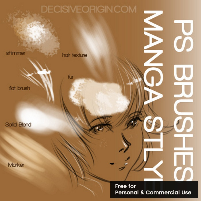 Manga photoshop brushes