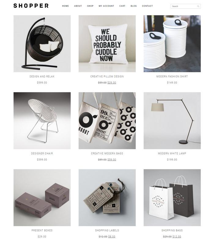 shopper eCommerce theme for free