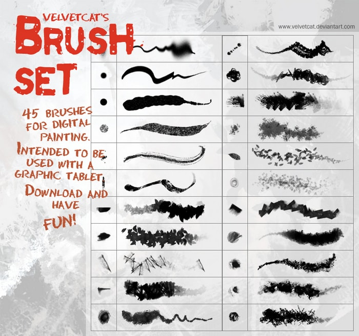Velvetcat's Brush Set