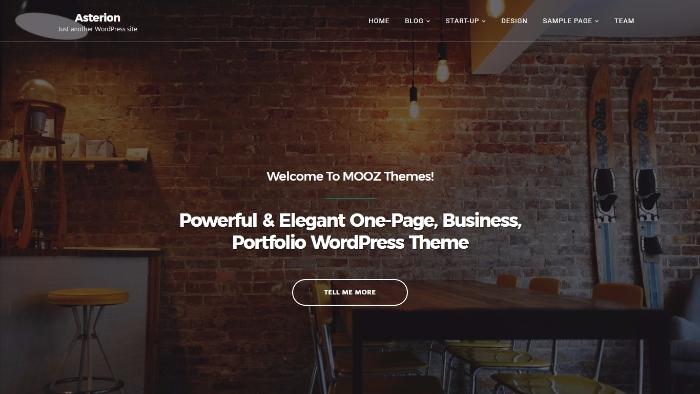 asterion - minimalistic wordpress theme