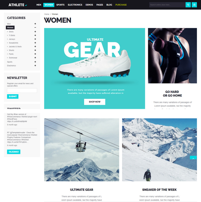 Sell any products online with Magento theme