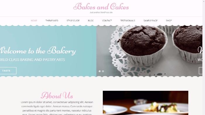 free bakes and cakes wordpress theme