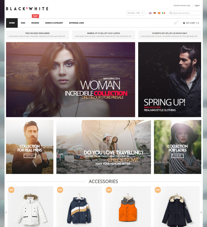 responsive theme for online stores