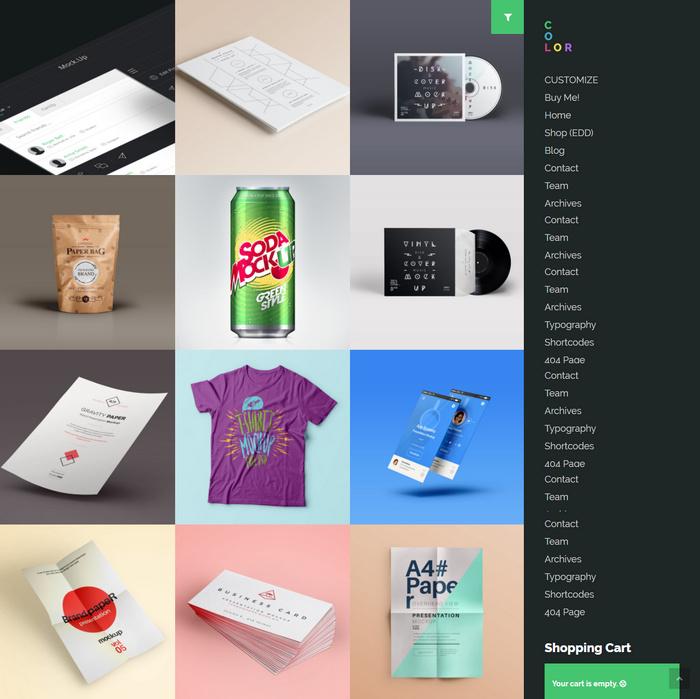 Metro WordPress Theme for Portfolio